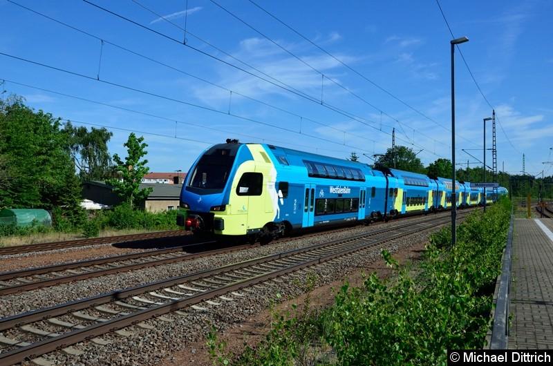 ET 613 auf dem Weg nach Leipzig in Muldenstein.