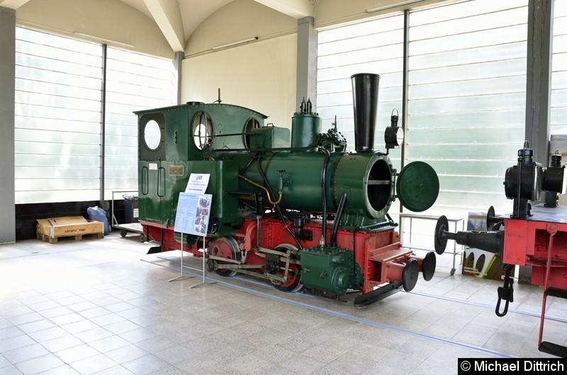 Schmalspurdampflok 750 mm aus dem Jahre 1926.