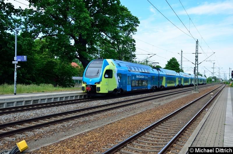 ET 609 auf dem Weg nach Leipzig in Gräfenhainichen.