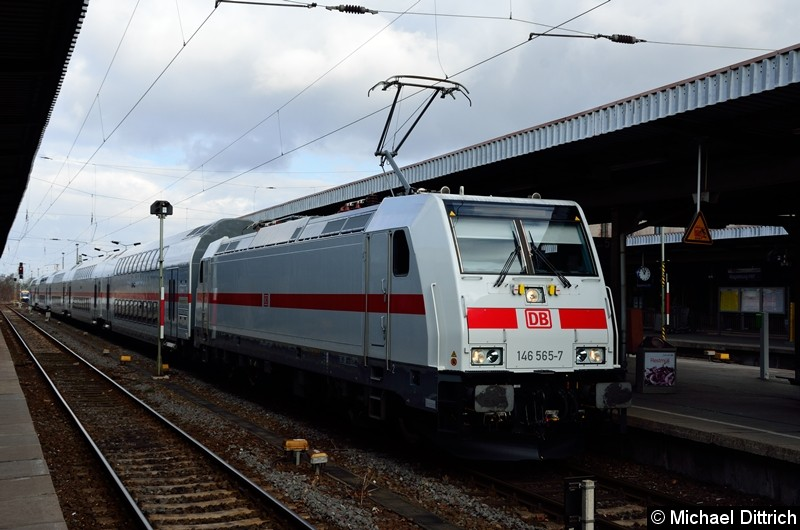 146 565 am IC 2037 nach Leipzig Hbf. in Magdeburg Hbf.