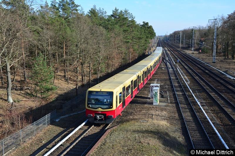 481/482 003 + 481/482 103 + 481/482 392 + 481/482 021 als Linie S3 bei der Einfahrt in Wuhlheide.