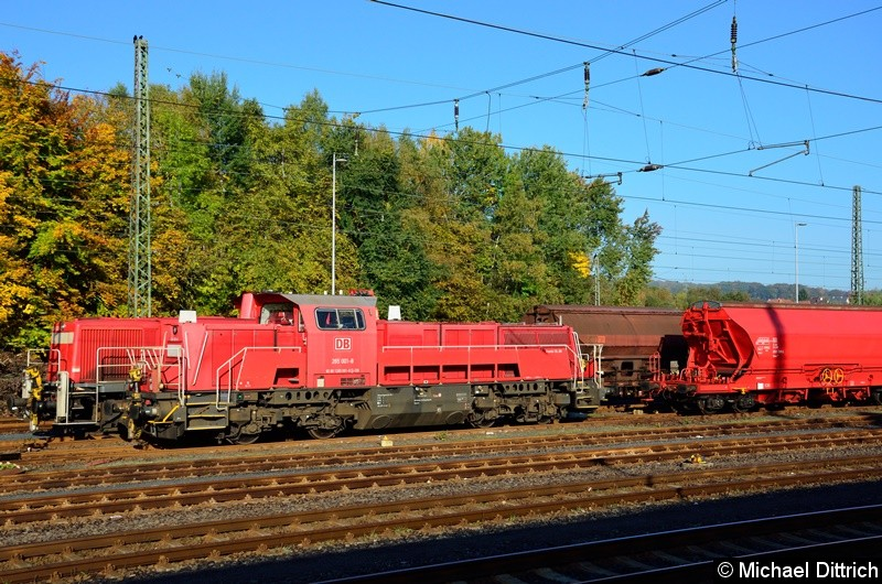 265 001 macht Sonntagsruhe in Neuhof (Kr. Fulda).