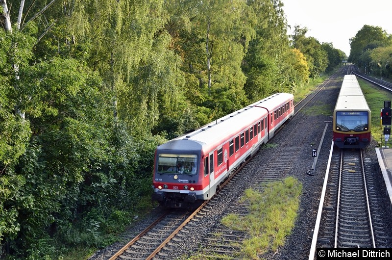 Sonderfahrt des VIV e.V. zum Thema i2030. Hier auf dem Weg nach Lichterfelde West in Höhe des S-Bahnhaltepunkts Sundgauer Straße.