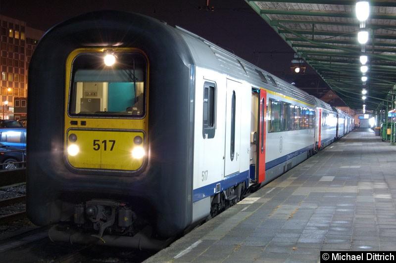 Bild: Eine belgische Gumminase im Bahnhof von Luxembourg.