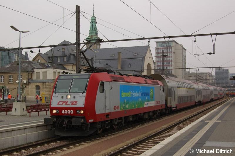 Bild: 4009 als Regionalbahn in Luxembourg.