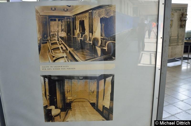 Im Werk steht auch der Salonwagen des letzten Kaiserpaares. Hier Ausstellungsbilder.