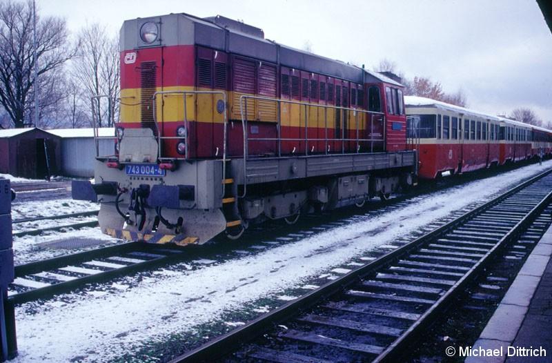 Bild: 743 004 abgestellt in Liberec.