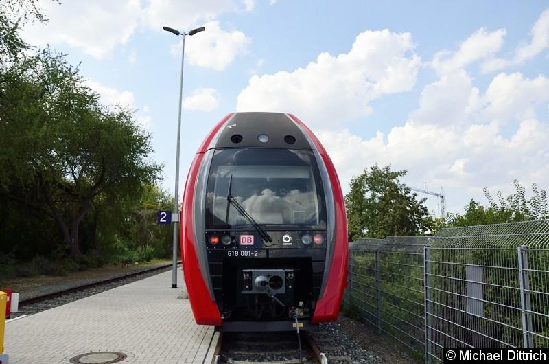 Der 618 001 ist ein Einzelgänger des Typs Lirex (Leichter Innovativer Regionalexpress).