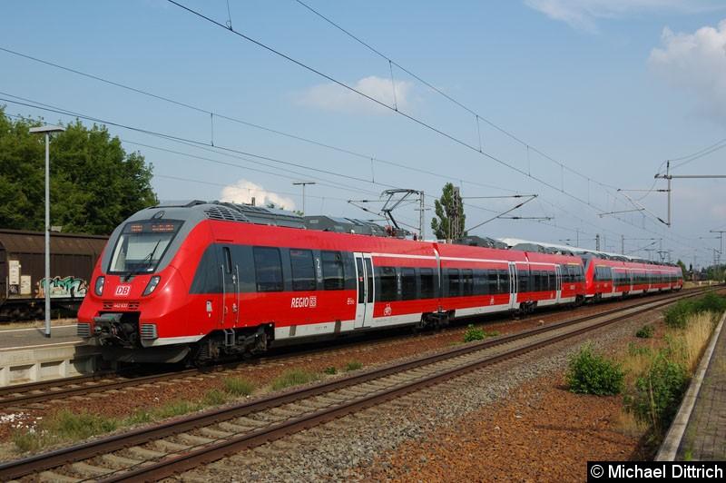Bild: 442 637 als RB 10 in Nauen.