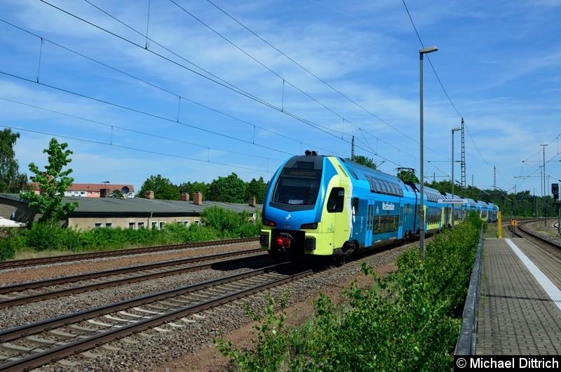 ET 603 der Westfalenbahn auf dem Weg nach Pratau in Muldenstein.