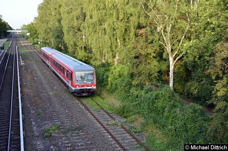 Sonderfahrt des VIV e.V. zum Thema i2030. Hier auf dem Weg nach Wannsee in Höhe des S-Bahnhaltepunkts Sundgauer Straße.