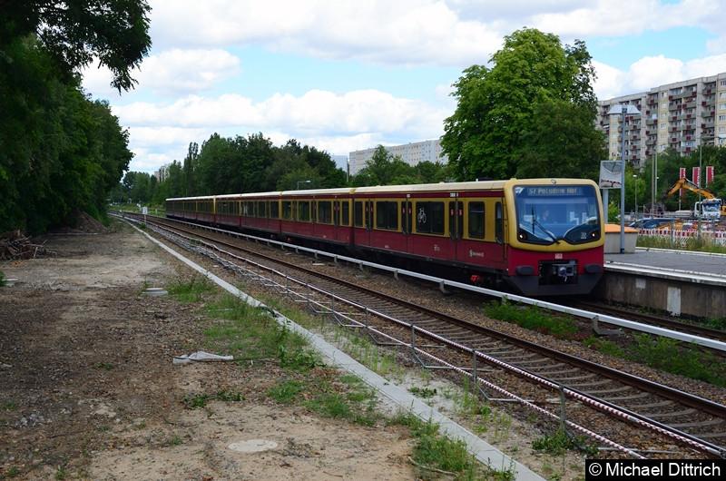 Berlin-Marzahn: Es erhält Einfahrt 481/482 257-302-068-191 als Linie S7 nach Potsdam Hbf.