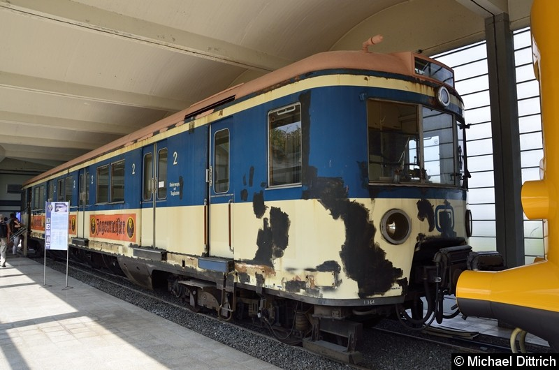 Hamburger S-Bahnwagen 471 144. Ausgmustert  am 28. Februar 1990, kam er kurz danach ins Museum nach Salzgitter.