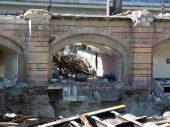 Bild: Abriss des alten Bahnhofs