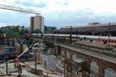 Bild: Bau des neuen Bahnhofs