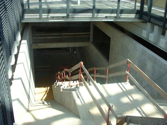 Bild: Dies wird mal einer der neuen Abgänge werden.  Aufgenommen am 05.07.2002