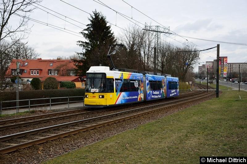 Bild: 1004 als Fahrschule kurz vor der Haltestelle Landsberger Allee/Rhinstr.
