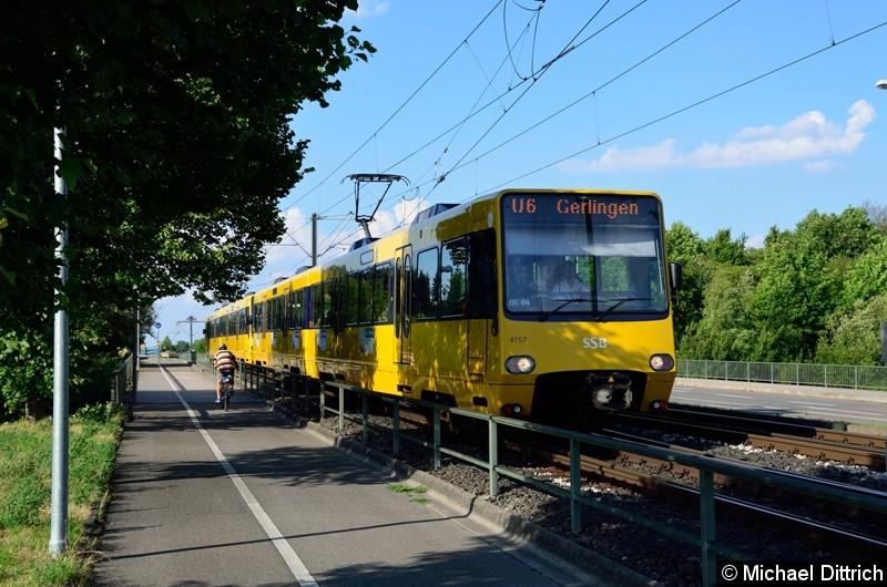 4157 als Linie U6 zwischen Raststatter Str. und Wolfbusch.