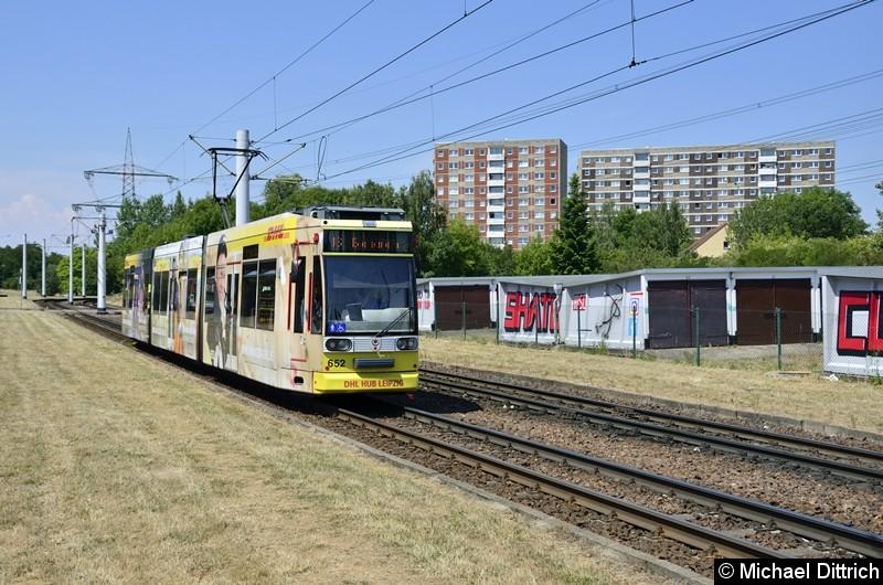 652 als Linie 16 kurz vor der Endstelle Beesen.