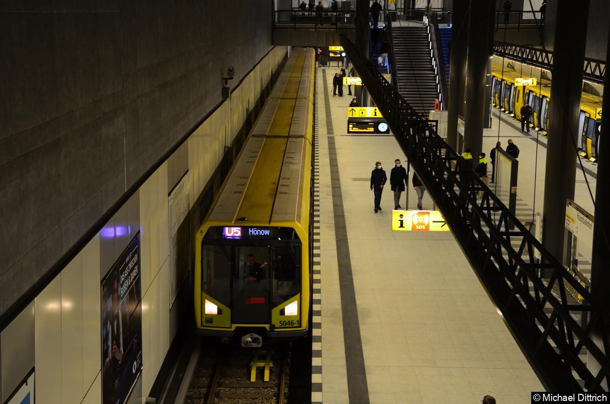 Eröffnung der U5 zu Hauptbahnhof. 5046 nach Hauptbahnhof.