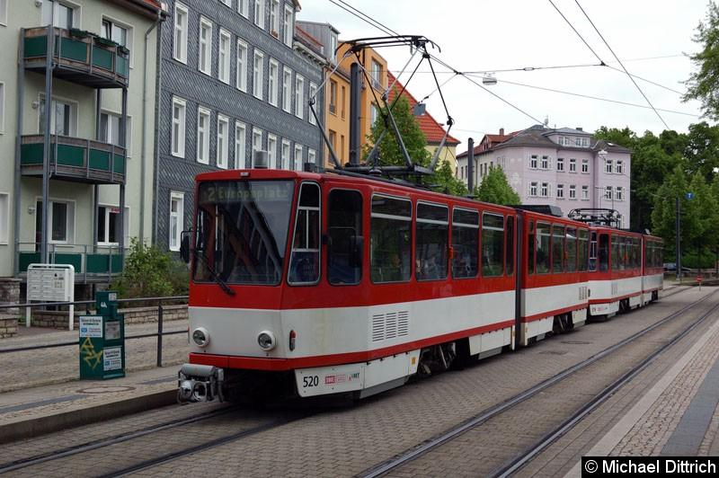 Bild: KT4D 520 und 450 als Linie 2 am Sparkassen Finanzzentrum.