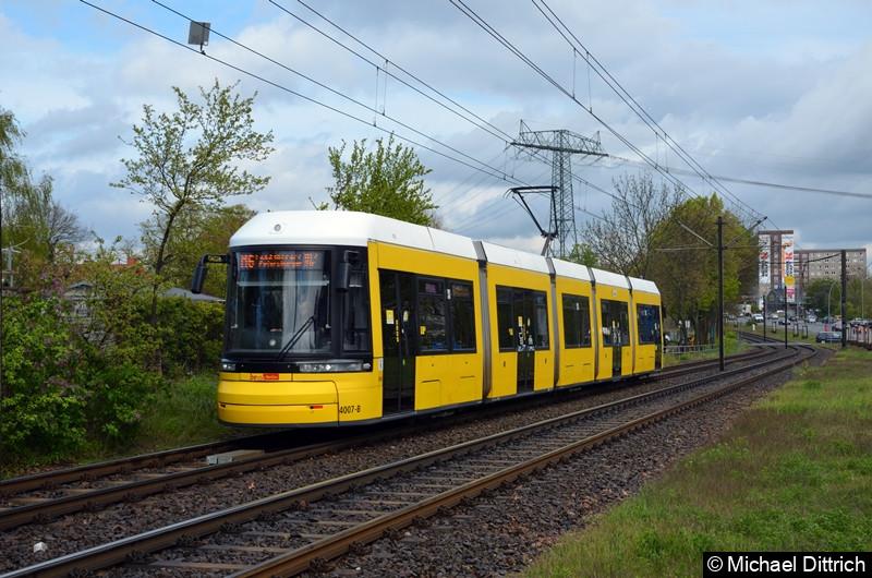 4007 als Linie M6 zwischen den Haltestellen Landsberger Allee/Rhinstr. und Dingelstädter Str.