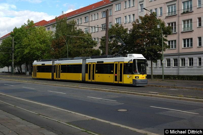 Bild: 2005 als Linie M8 in der Endstelle Kniprodestr.