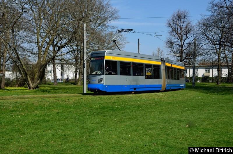 1323 als Linie 2 in der Wendeschleife Naunhofer Str.