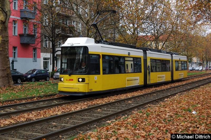 Bild: 1029 als Linie 50 zwischen den Haltestellen Masurenstr. und U Vinetastr.