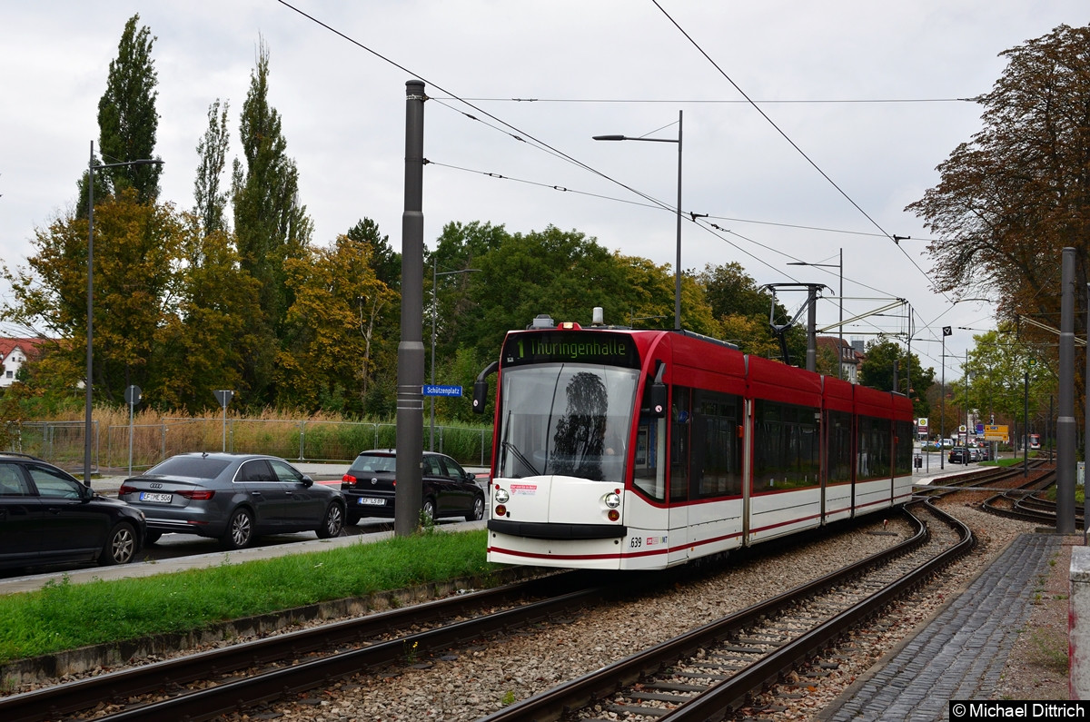 639 als Linie 1 an der Thüringenhalle.