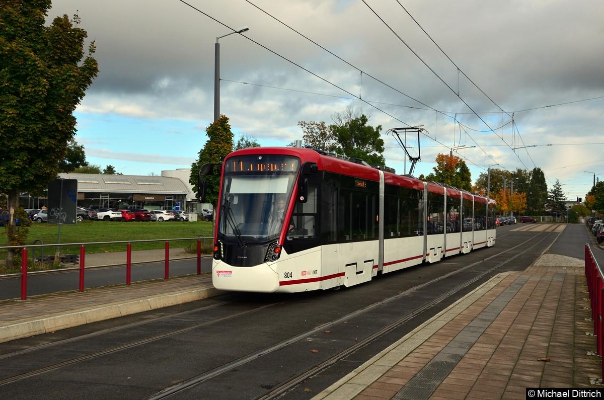 804 als Linie 1 an der Mittelhäuser Straße.