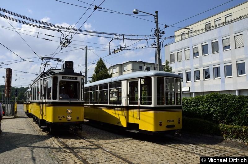 Auf dem Betriebshof Bad Cannstatt wird bereitgestellt: Linie 23 nach Ruhbank.