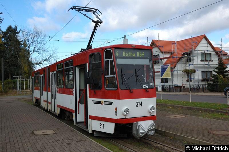 314 als Linie 4 in Tabarz.