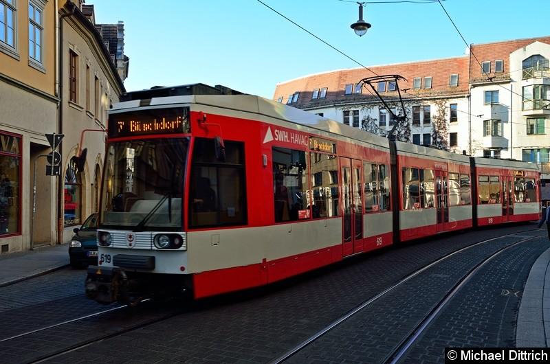 619 als Linie 7 zwischen den Haltestellen Marktplatz und Franckeplatz