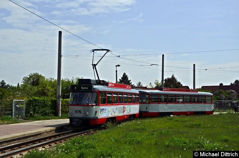 Sonderfahrt mit 1176 + 204: In der Wendeschleife.