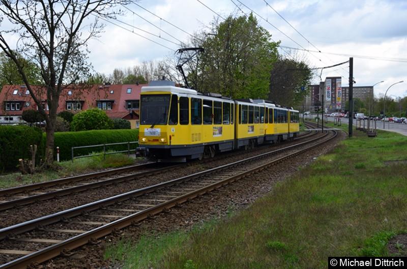6006 + 6170 als Linie M6 zwischen den Haltestellen Landsberger Allee/Rhinstr. und Dingelstädter Str. Letzter Einsatztag der KT4D in Berlin.