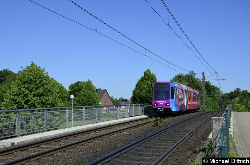 Bild: 6243 als Linie 8 zwischen den Haltestellen Am Mittelfelde und Messe/Nord.