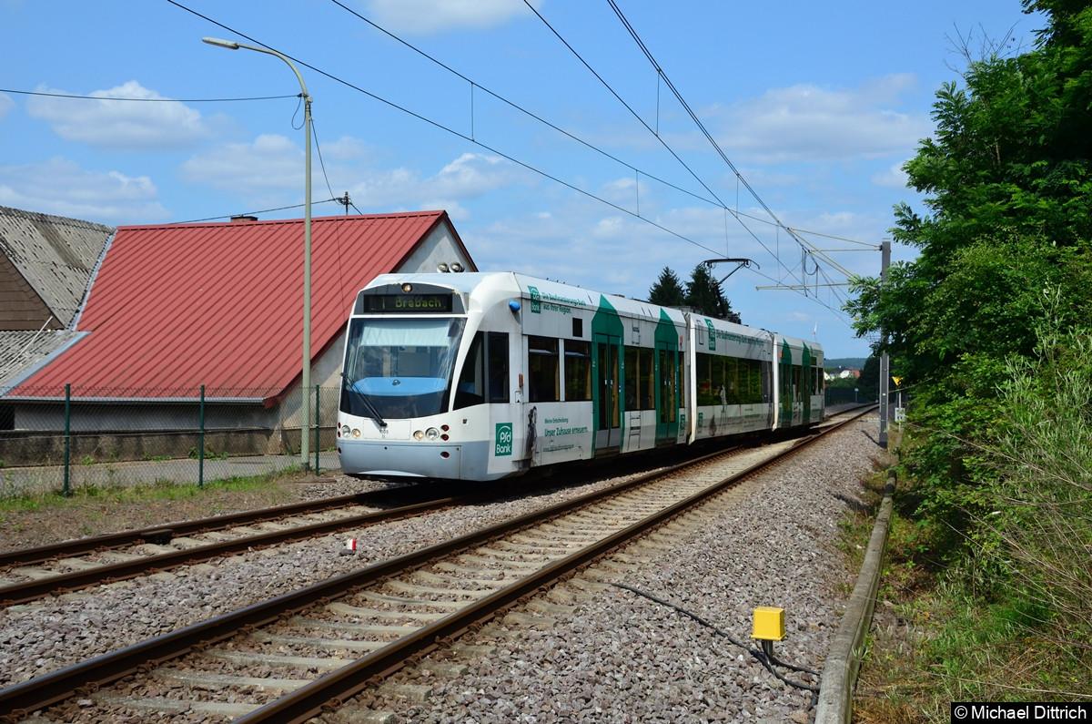 1005 kurz vor der Einfahrt in Landweiler Nord in Richtung Brebach.