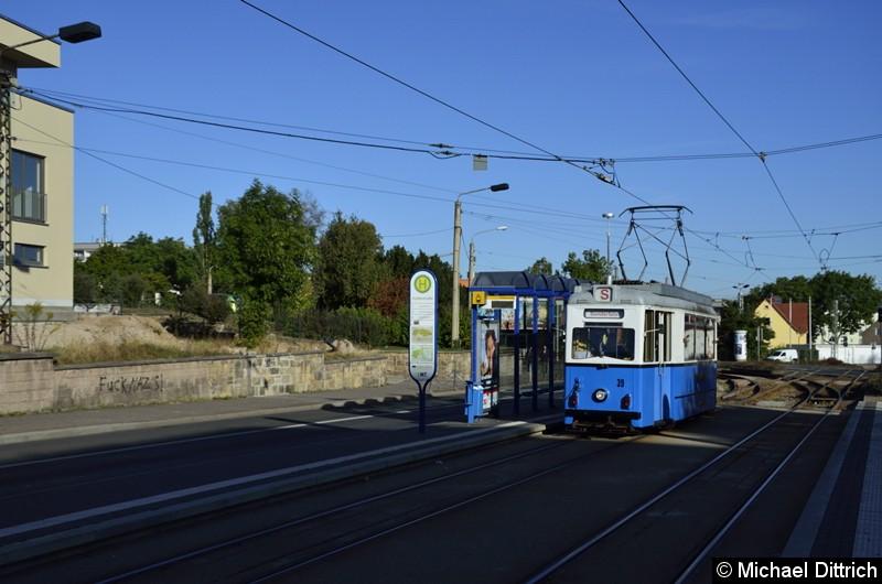 Ebenfalls am Korso nahm der Wagen 39 teil, der als zweiter Wagen an der Huttenstraße vorbei kam.
