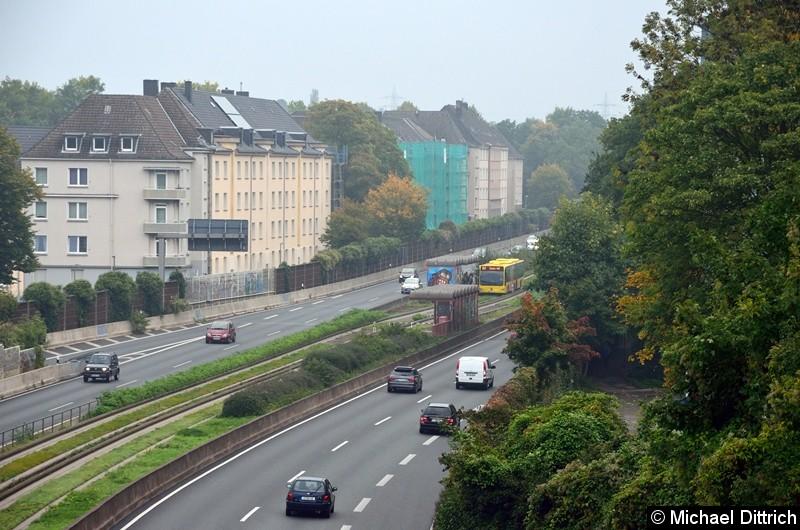 Der Bus 4657 als Linie 147 in der Haltestelle Oberschlesienstraße.