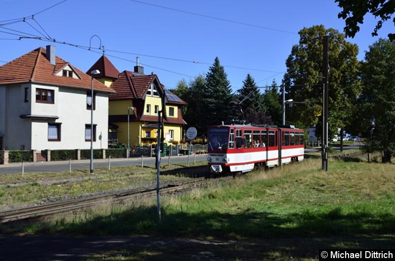 Wagen 307 erreicht als Fahrschule Bad Tabarz.