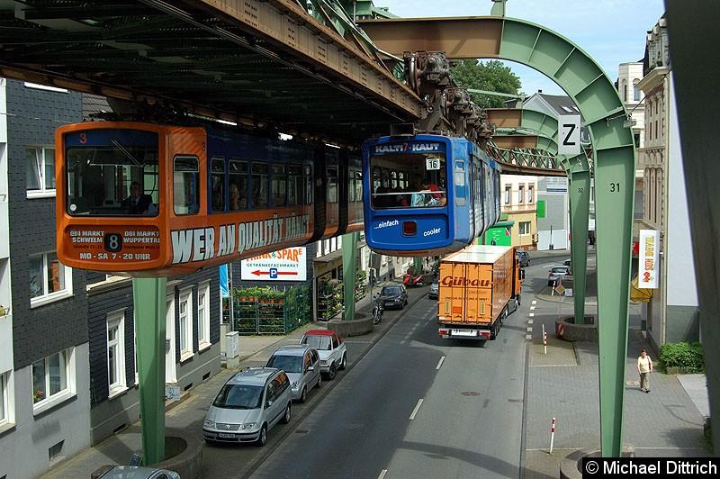 Bild: Wagen 3 trifft auf Wagen 7.
