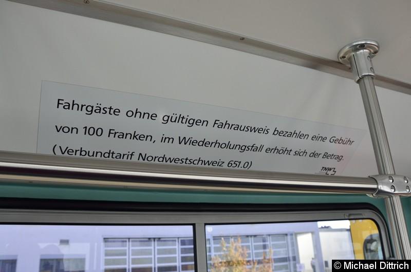 In der Schweiz ist Schwarzfahren etwas teurer als in Deutschland: 100 Franken.