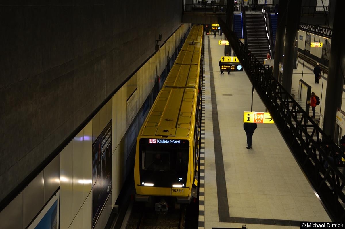 Eröffnung der U5 zu Hauptbahnhof. IK 1029 nach Kaulsdorf Nord.