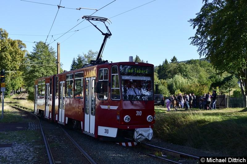310 als Linie 4 erreicht Bad Tabarz.