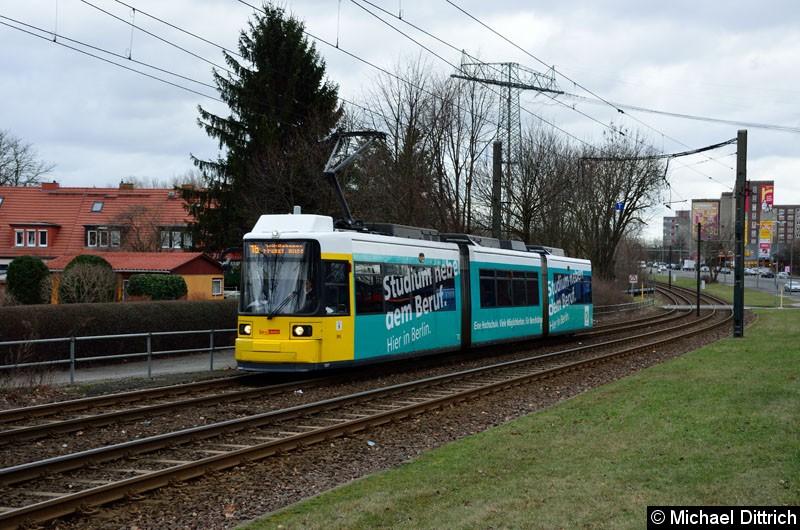 Bild: 1507 als Linie 16 zwischen den Haltestellen Dingelstädter Str. und Landsberger Allee/Rhinstr.