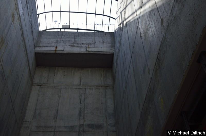Das Dach ist auch erforderlich um zu verhindern, dass übermütige die über den Zaun klettern nicht in den Tunnel fallen. Natürlich ist es auch ein Wetterschutz.