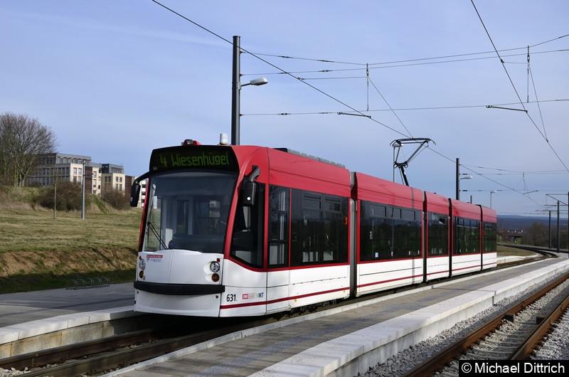 631 als Linie 4 in Bindersleben.