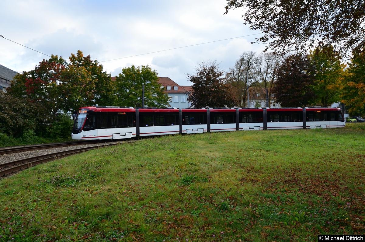 804 als Linie 1 an der Thüringenhalle.