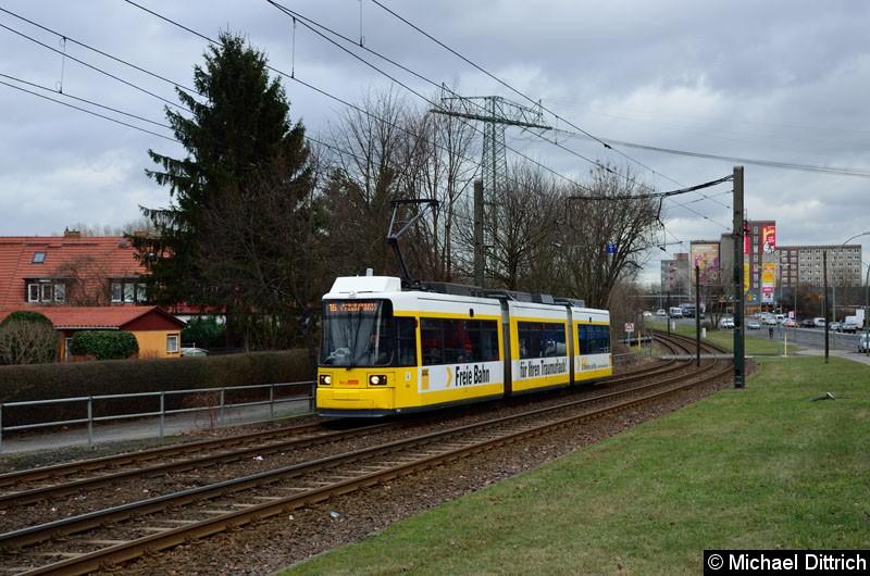 Bild: 1506 als Linie 16 zwischen den Haltestellen Dingelstädter Str. und Landsberger Allee/Rhinstr.